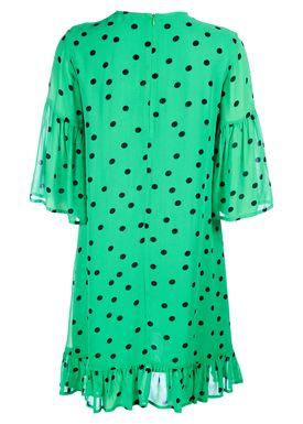 Ganni - Klänning - Dainty Georgette Dress - Classic Green