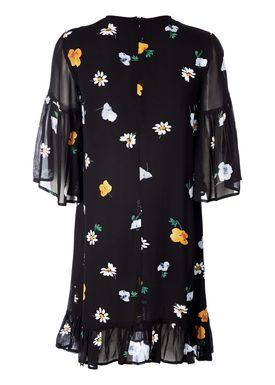 Ganni - Klänning - Dainty Georgette Dress - Black