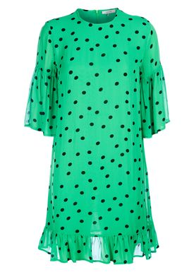 Ganni - Dress - Dainty Georgette Dress - Classic Green