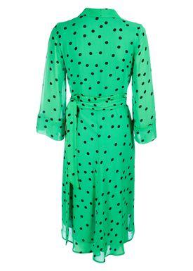 Ganni - Klänning - Dainty Georgette Long - Classic Green
