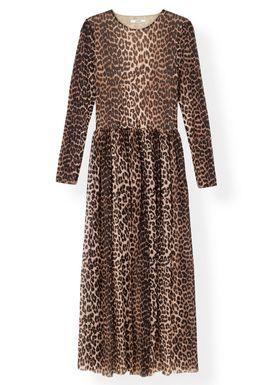 Ganni - Klänning - Printed Mesh Dress T2169 - Leopard