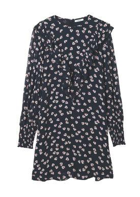 Ganni - Klänning - Rometty Georgette Mini Dress - Black