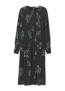 Ganni - Klänning - Rometty Georgette Smock Dress - Black