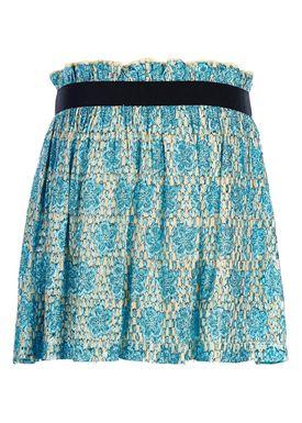 Ganni - Skirt - Emiko Sequins Skirt - Turquoise/Biscotti