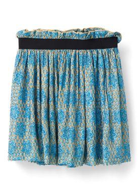 Ganni - Nederdel - Emiko Sequins Skirt - Tyrkis/Biscotti