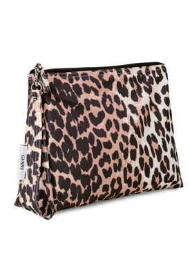 Ganni - Bag - Tech Fabric Toilet Bag A1513 - Leopard