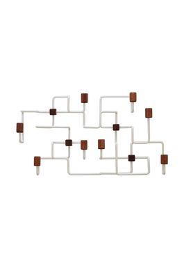 Gejst - Hooks - Underground Coat Rack - White