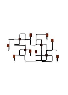 Gejst - Hooks - Underground Coat Rack - Black