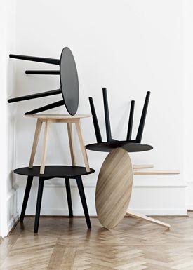 Getama - Bord - Circle / Coffee table / by Blum & Balle - Large / Oak