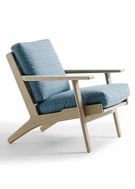 Getama - Lounge Chair - GE290 / Chair with low back / by Hans J. Wegner - Oak