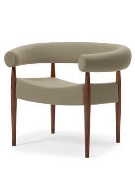 Getama - Lænestol - Ring Chair / af Nanna og Jørgen Ditzel - Valnød