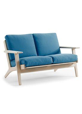 Getama - Sofa - GE290 / 2 personers / af Hans J. Wegner - Egetræ