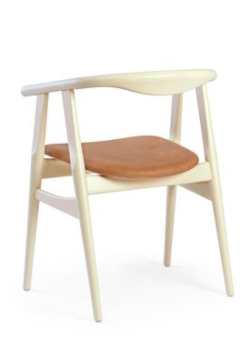 Getama - Chair - GE525 / The U-Chair / by Hans J. Wegner - White / Beechwood / Stained