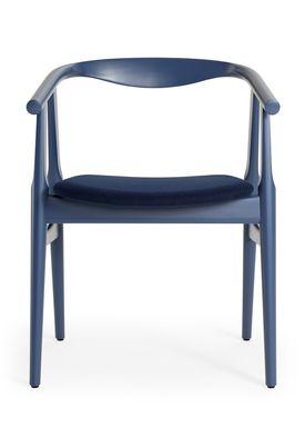 Getama - Chair - GE525 / The U-Chair / by Hans J. Wegner - Blue / Beechwood / Stained