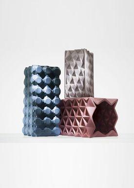 Tom Dixon - Vase - Grid Vase - Small - Mushroom