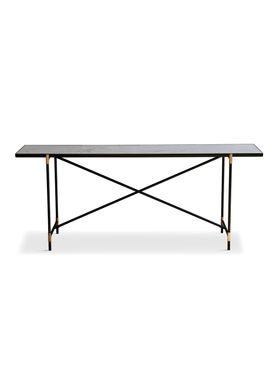 Handvärk - Table - Console by Emil Thorup - Black Frame with Brass - Statuario / White Marble