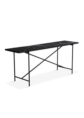 Handvärk - Table - Console by Emil Thorup - Black Frame - Nero Marquina / Black Marble