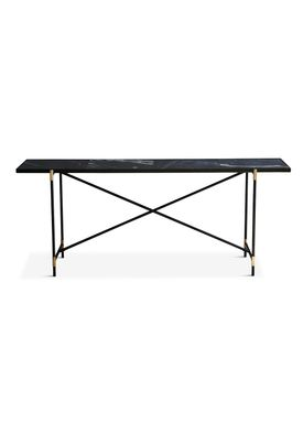 Handvärk - Table - Console by Emil Thorup - Black Frame with Brass - Nero Marquina / Black Marble