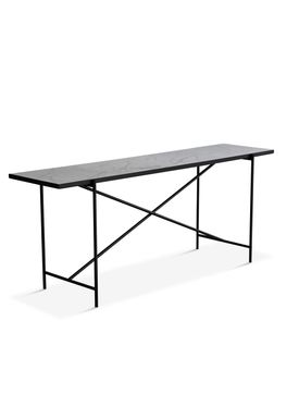 Handvärk - Table - Console by Emil Thorup - Black Frame - Statuario / White Marble