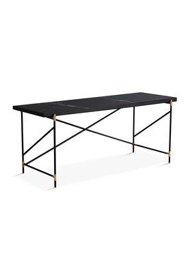 Handvärk - Desk - Desk by Emil Thorup - Black Frame with Brass - Nero Marquina / Black Marble