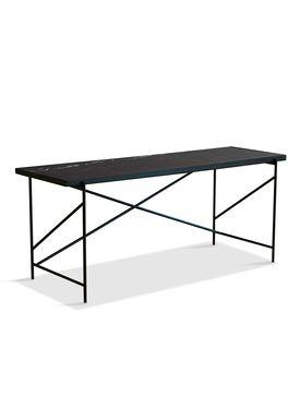 Handvärk - Desk - Desk by Emil Thorup - Black Frame - Nero Marquina / Black Marble