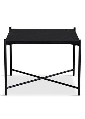 Handvärk - Coffee Table - Coffee Table 60 by Emil Thorup - Black Frame - Nero Marquina / Black Marble