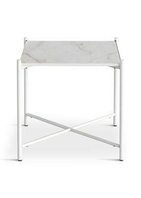 Handvärk - Soffbord - Side Table by Emil Thorup - White Frame - Statuario / White Marble