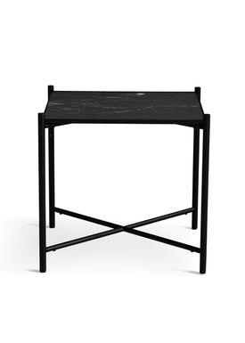 Handvärk - Soffbord - Side Table by Emil Thorup - Black Frame - Nero Marquina / Black Marble