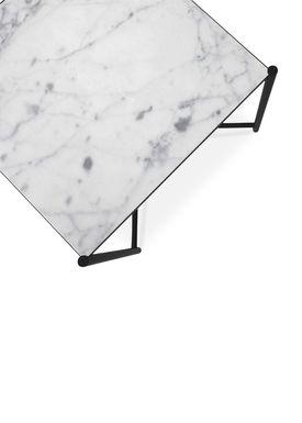 Handvärk - Coffee Table - Side Table by Emil Thorup - Black Frame - Statuario / White Marble