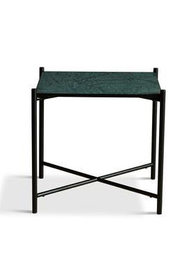 Handvärk - Coffee Table - Side Table by Emil Thorup - Black Frame - Verde Guatamala / Green Marble