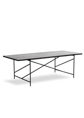 Handvärk - Dining Table - Dining Table 230 by Emil Thorup - Black Frame - Statuario / White Marble
