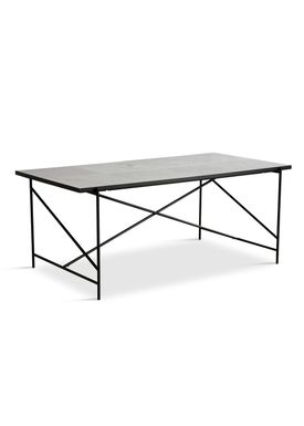 Handvärk - Dining Table - Dining Table 185 by Emil Thorup - Black Frame - Statuario / White Marble