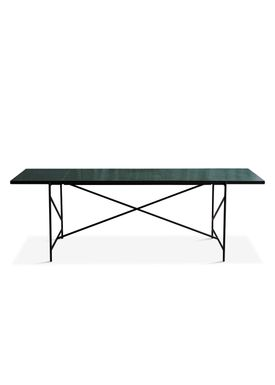 Handvärk - Dining Table - Dining Table 230 by Emil Thorup - Black Frame - Verde Guatamala / Green Marble