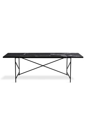 Handvärk - Dining Table - Dining Table 230 by Emil Thorup - Black Frame - Nero Marquina / Black Marble