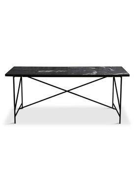 Handvärk - Dining Table - Dining Table 185 by Emil Thorup - Black Frame - Nero Marquina / Black Marble