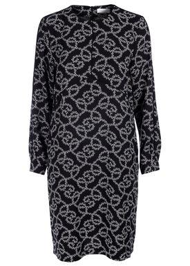 Hofmann Copenhagen - Klänning - Arissa Classic Dress - Black/White Oyster