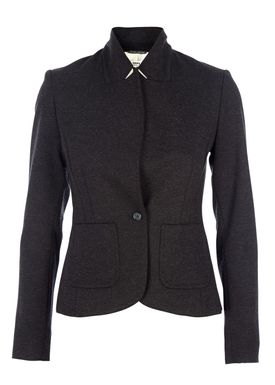 HOPE - Blazer - Judge Knit Blazer - Black Melange