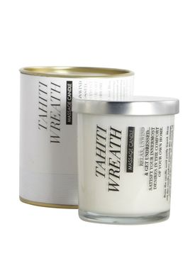 House doctor - Scented Candles - Massage - Hvid-Tahiti Wreath