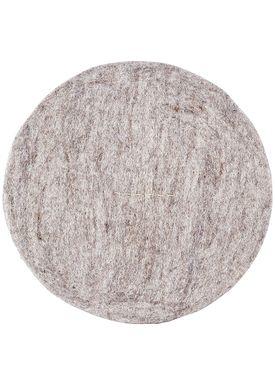 House doctor - Cushion - Felt Round - Light Grey Melange