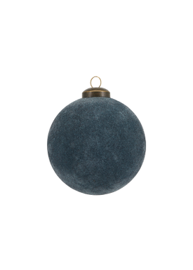 House doctor - Julekugle - Flock Ornament - Navy Large
