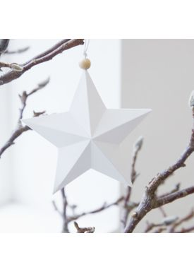 House doctor - Christmas Ornaments - Star Ornaments - White - 15 cm