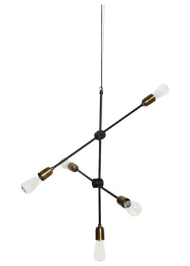 House doctor - Lamp - Molecular Lamp - Large - Brass/Black