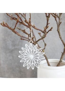 House doctor - Wall Belt - Christmas Star - 15 points - White (10 cm)