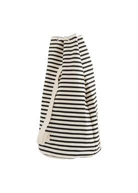House doctor - Bag - Stripes Tote Bag - Black/Offwhite