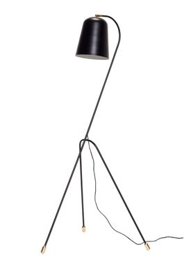 Hübsch - Floor lamp - Bell Metal Floor Lamp - Black