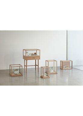 Hübsch - Kasser - Glass Display Box - High - Oak
