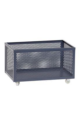 Hübsch - Boxes - Metal Net Storage Box - Low - Dark Gray