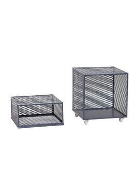 Hübsch - Boxes - Metal Net Storage Box - High - Dark Gray