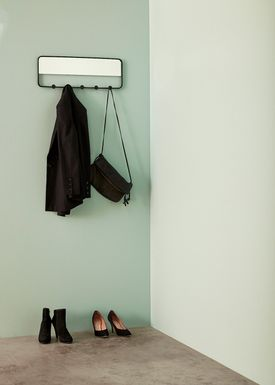Hübsch - Hooks - Mirror Coat Rack - Black