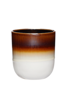 Hübsch - Cup - Ceramic Mugs - Brown